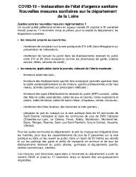 Mesures COVID-19 au 23-10-2020