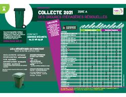 Calendrier 2021 ordures ménagères