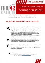 Info maintenance THD42 mars 2021